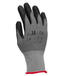 Rękawice AM-05 Rozm.11, Dziane Powlekane Nitrylem