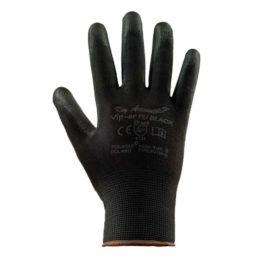 Rękawice dziane powlekane poliuretanem VIPER PU BLACK
