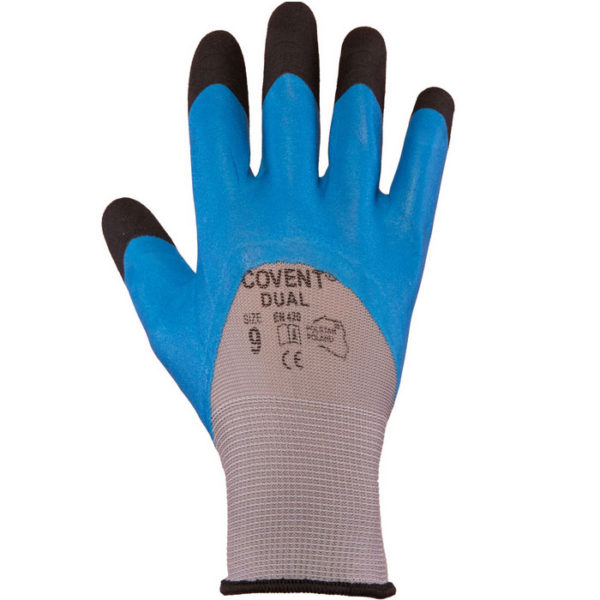 Rękawice Robocze Powlekane Pianką Lateksową COVENT DUAL