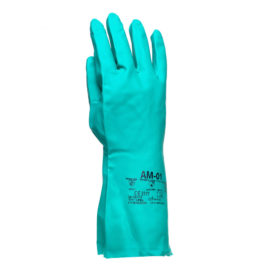 Rękawice AM-01 Rozm. S/M, Nitrylowe Kwaso-Olejoodporne